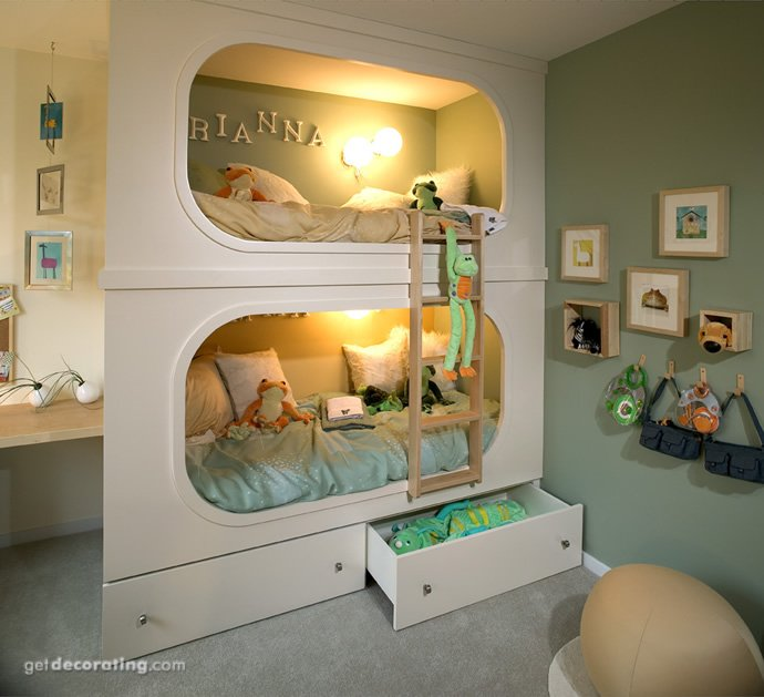 Оригинальные дизайны детских комнат