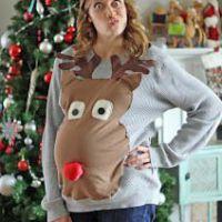 Новогоднее платье для беременных. Фото 5
